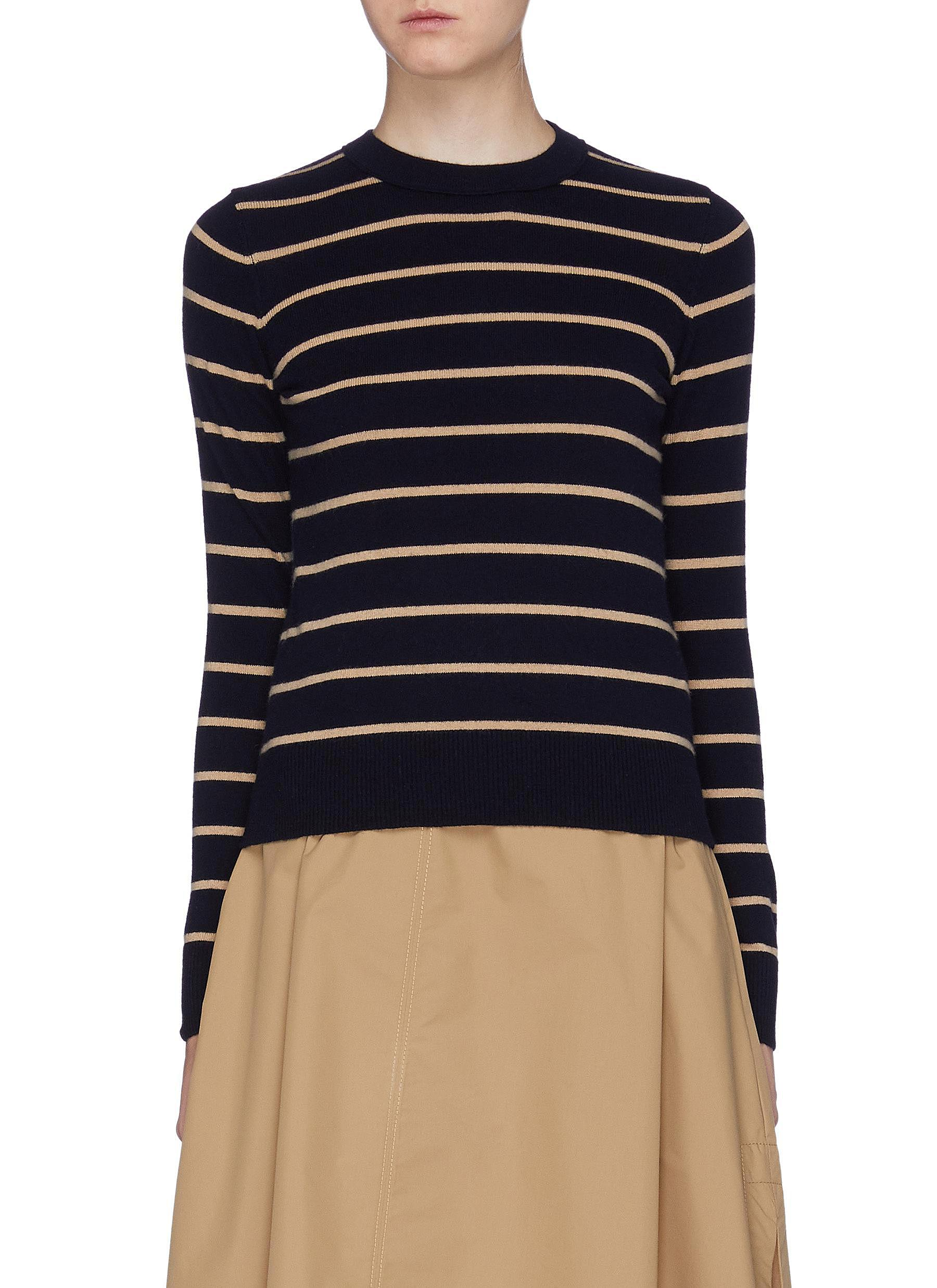 Stripe cashmere sweater by Vince