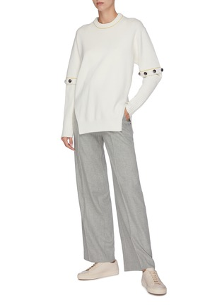 Figure View - Click To Enlarge - VINCE - Flannel wide leg pants