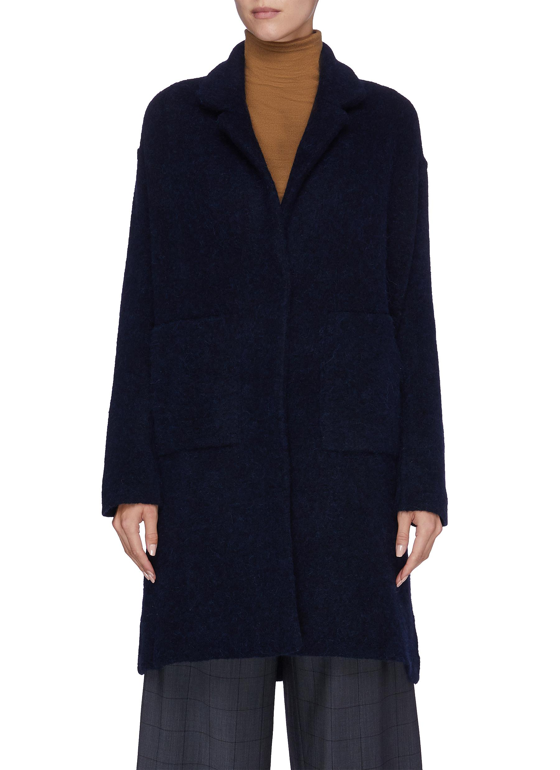 Notch lapel long cardigan by Vince