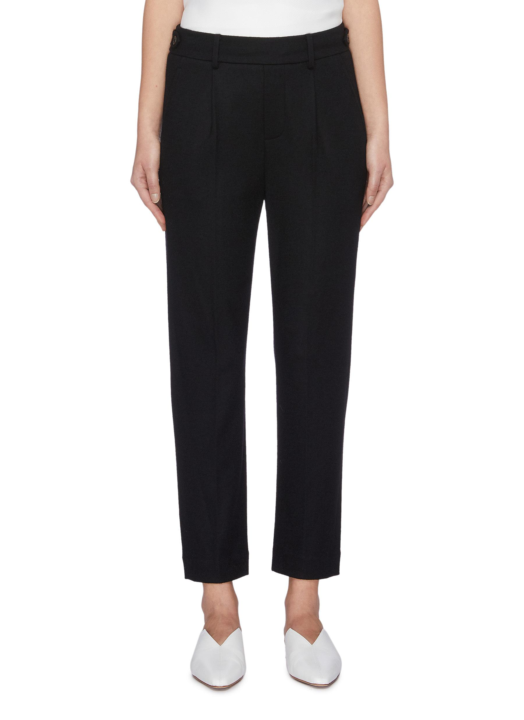 Elastic waistband wool blend suiting pants by Vince