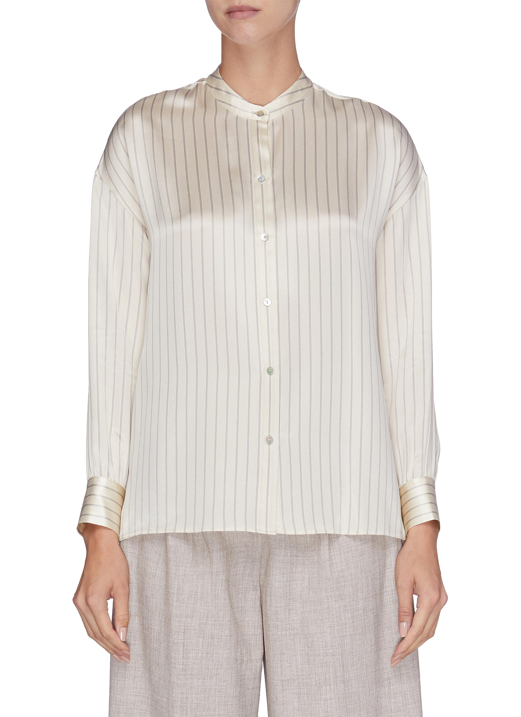 Pyjama pinstripe silk satin shirt by Vince