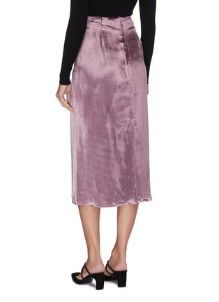 Back View - Click To Enlarge - VINCE - 'Panné' velvet midi skirt