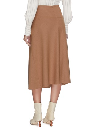 Back View - Click To Enlarge - VINCE - Wool-blend midi skirt