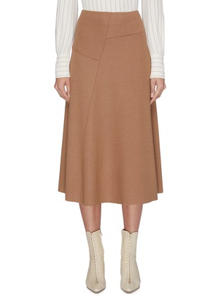 Main View - Click To Enlarge - VINCE - Wool-blend midi skirt