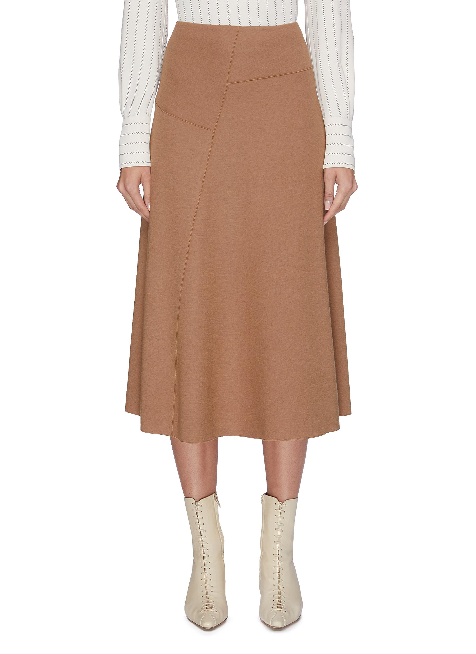 Wool-blend midi skirt by Vince