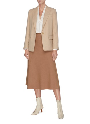 Figure View - Click To Enlarge - VINCE - Wool-blend midi skirt