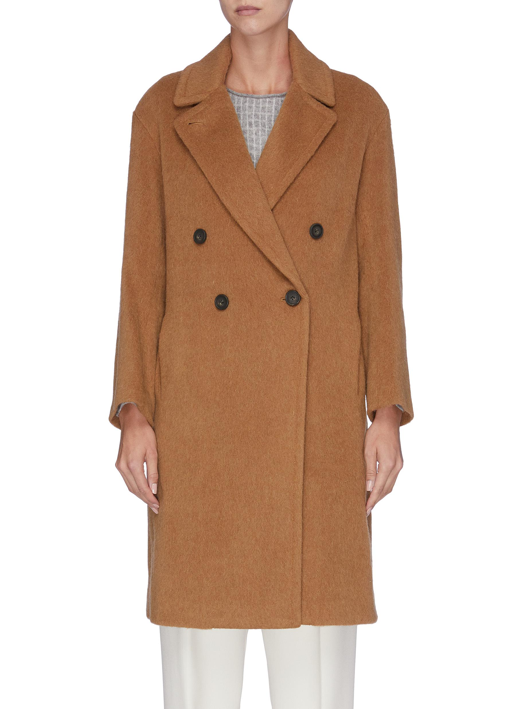 Wool blend double-breasted coat by Vince