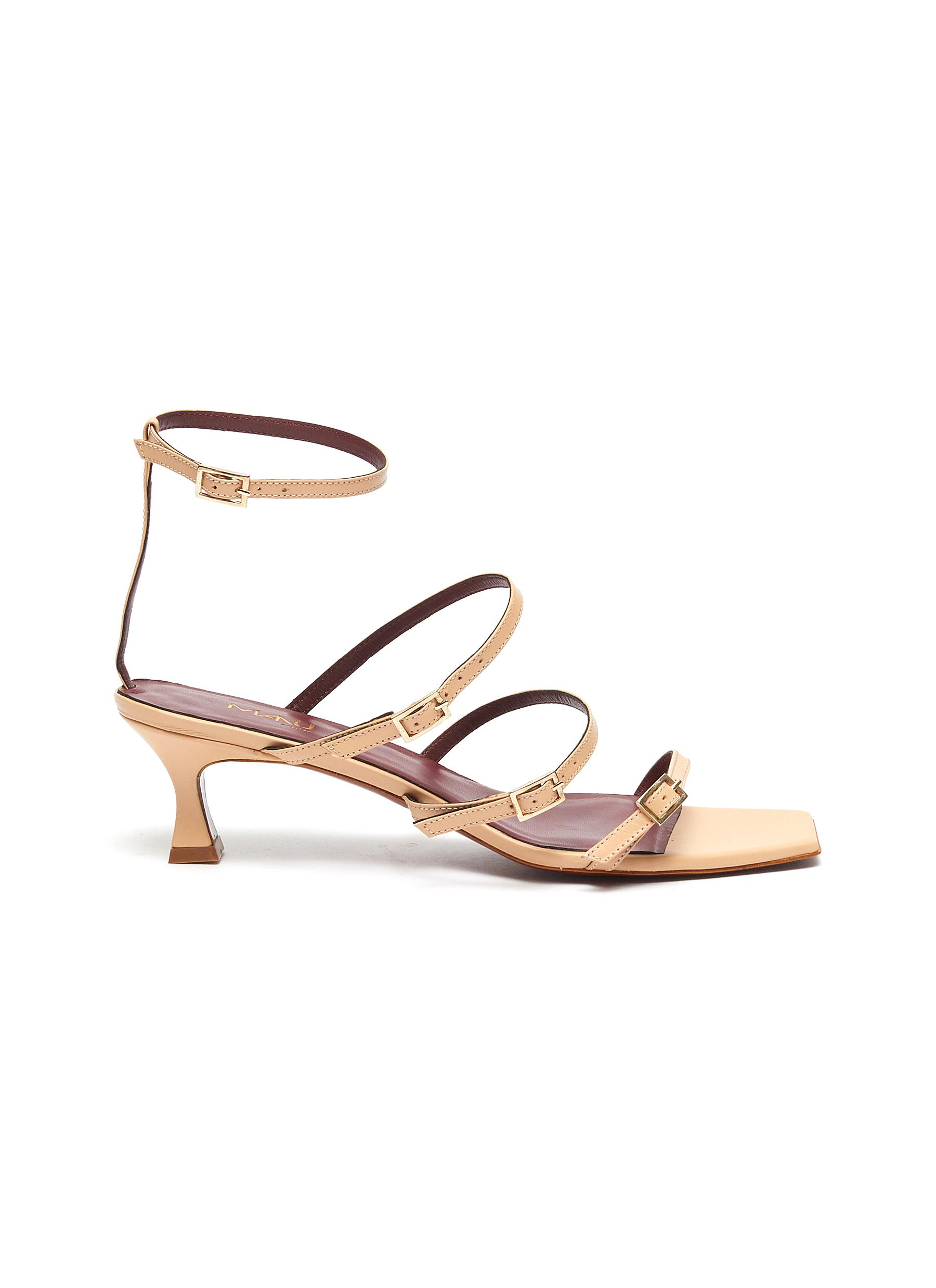 Naomi strappy leather sandals by Manu Atelier
