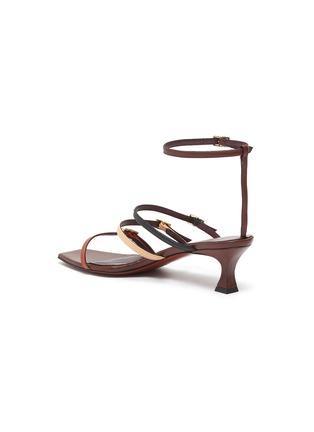 - MANU ATELIER - 'Naomi' colourblock strappy leather sandals