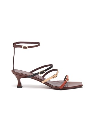Main View - Click To Enlarge - MANU ATELIER - 'Naomi' colourblock strappy leather sandals