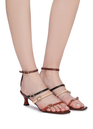 Figure View - Click To Enlarge - MANU ATELIER - 'Naomi' colourblock strappy leather sandals