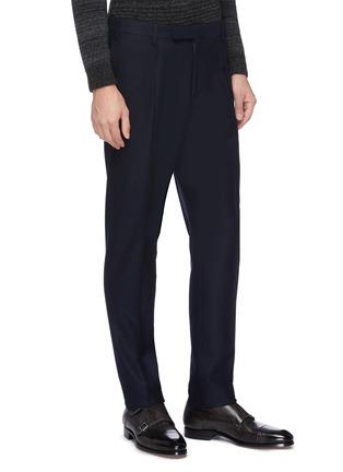 Detail View - Click To Enlarge - THE GIGI - Peaked lapel virgin wool blend suit