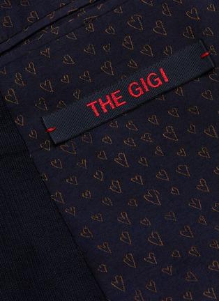 - THE GIGI - Peaked lapel virgin wool blend suit