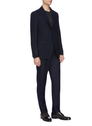 Front View - Click To Enlarge - THE GIGI - Peaked lapel virgin wool blend suit
