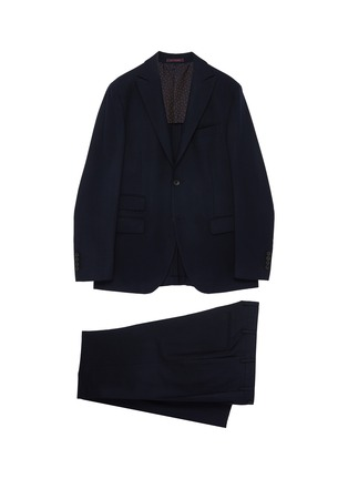 Main View - Click To Enlarge - THE GIGI - Peaked lapel virgin wool blend suit