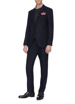 Figure View - Click To Enlarge - THE GIGI - Peaked lapel virgin wool blend suit