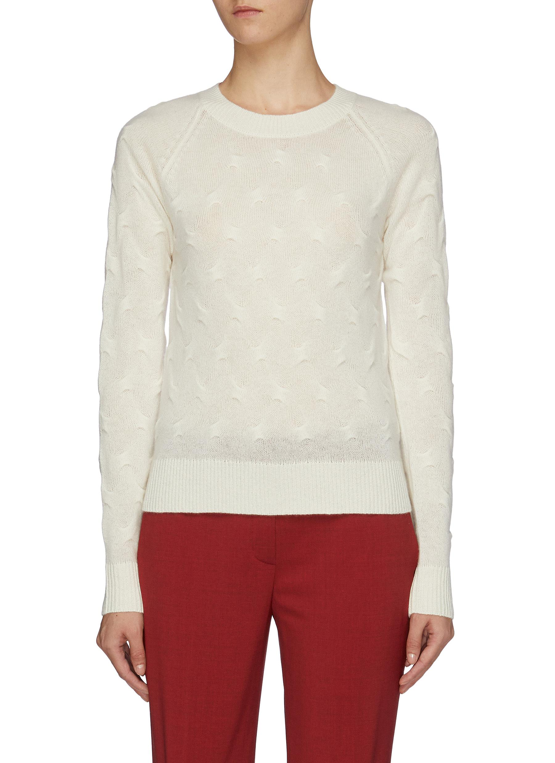 Cashmere tucked stitch knit sweater by Theory