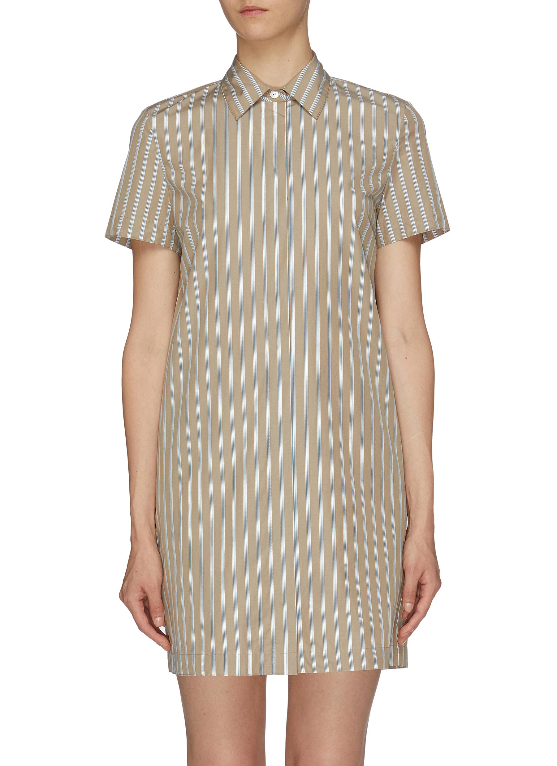 Stripe shirt dress by Theory