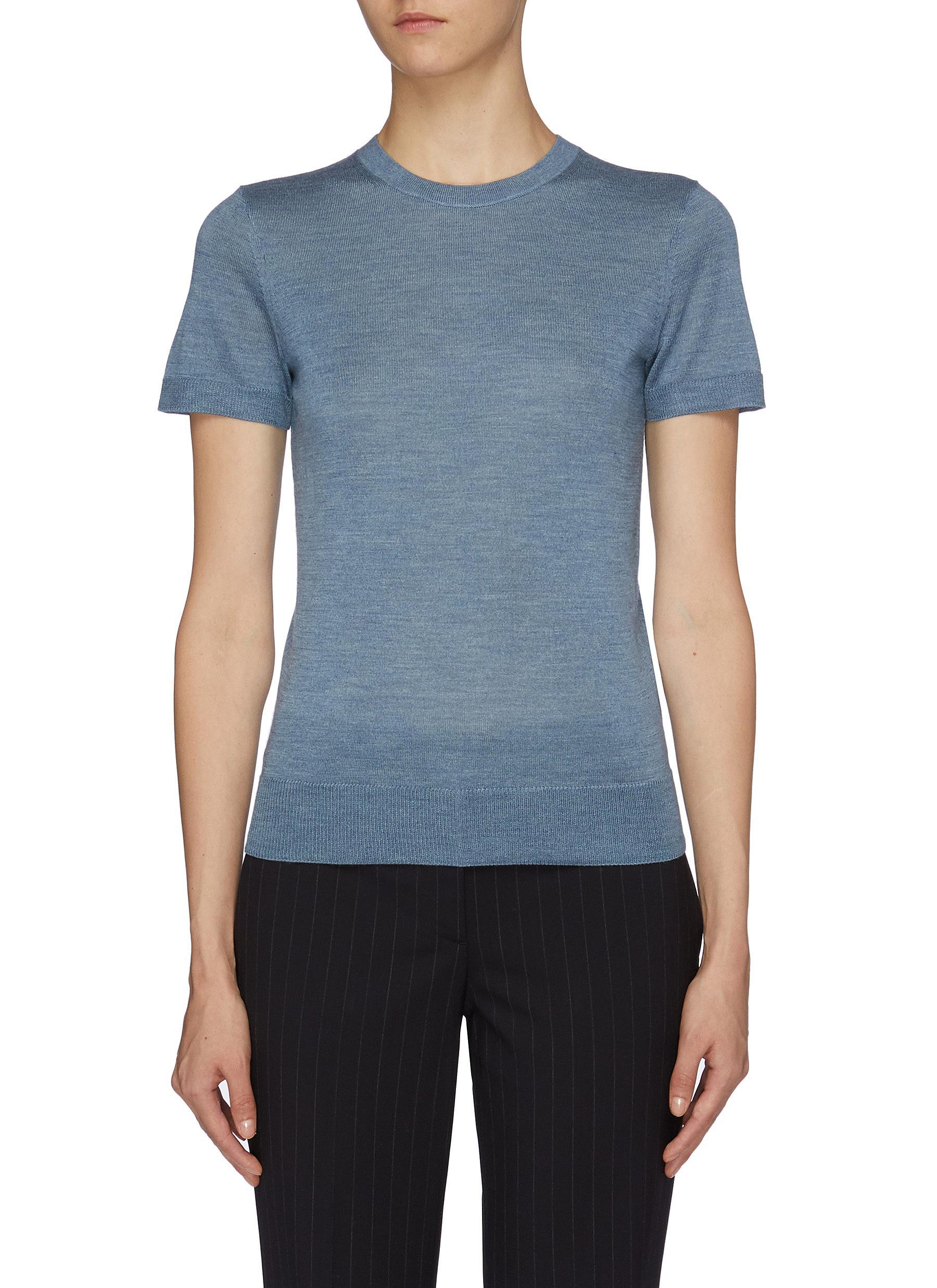 Silk blend knit T-shirt by Theory