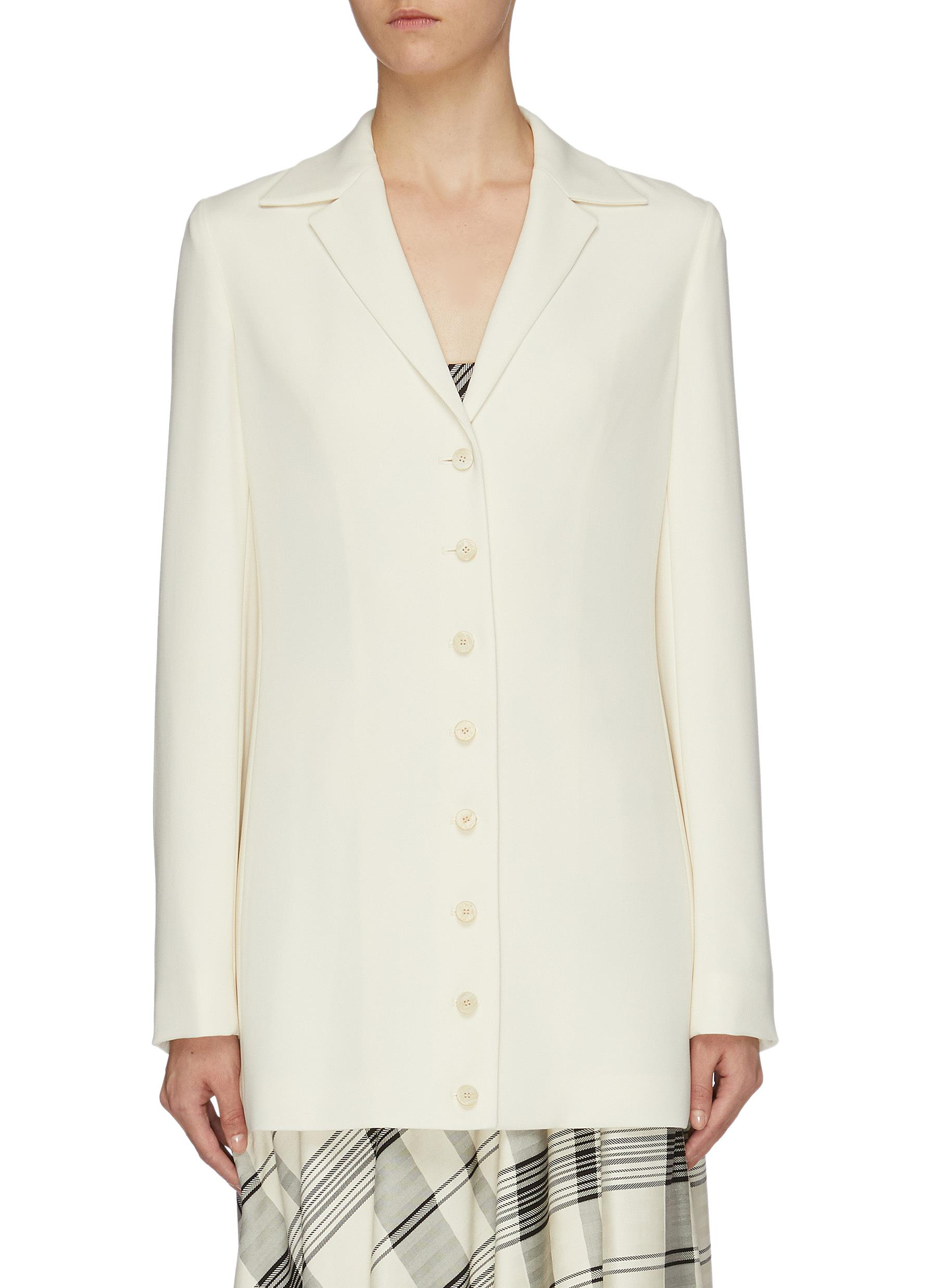 Peaked lapel crepe blazer by Theory