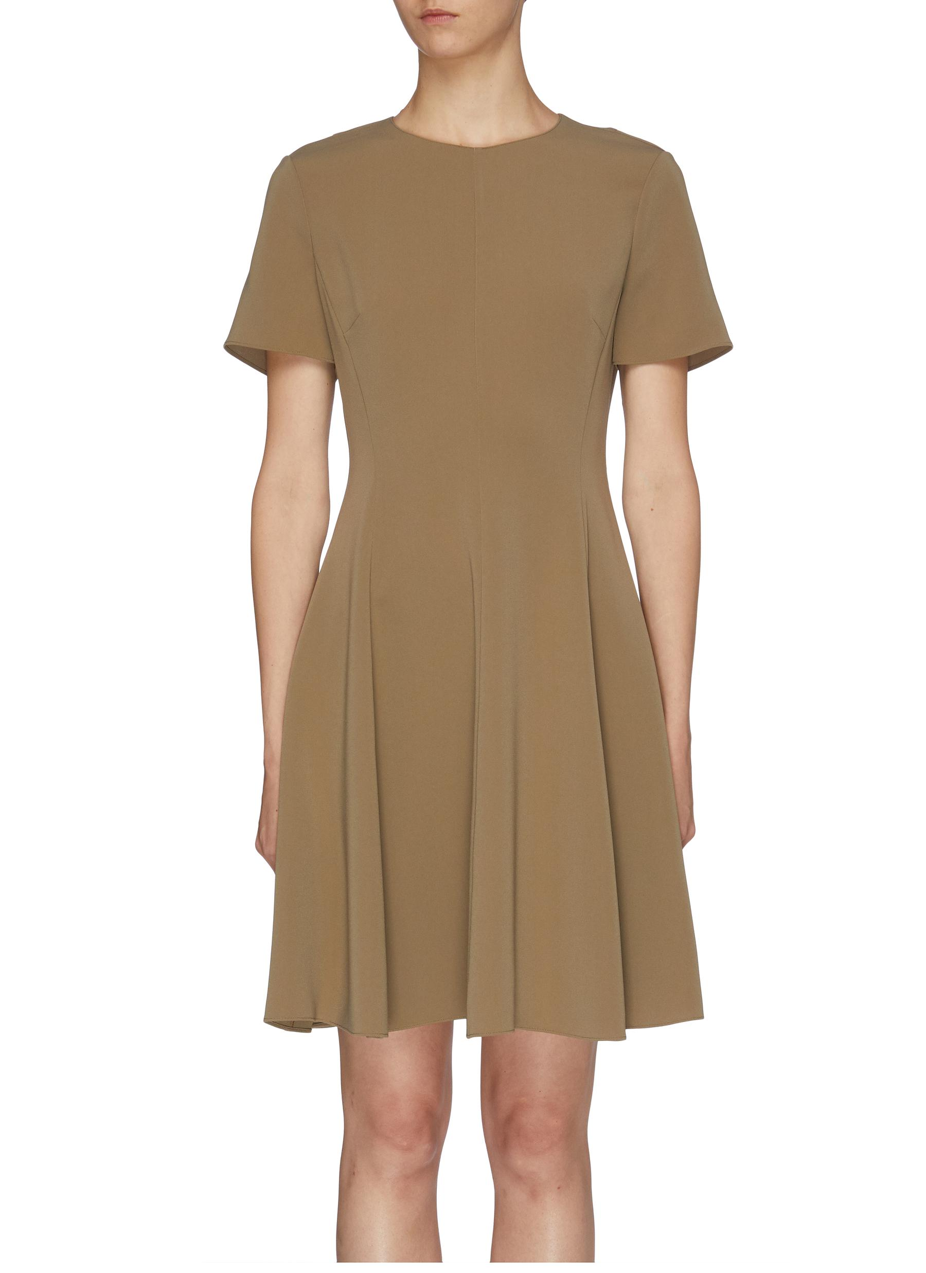 Flared crepe dress by Theory