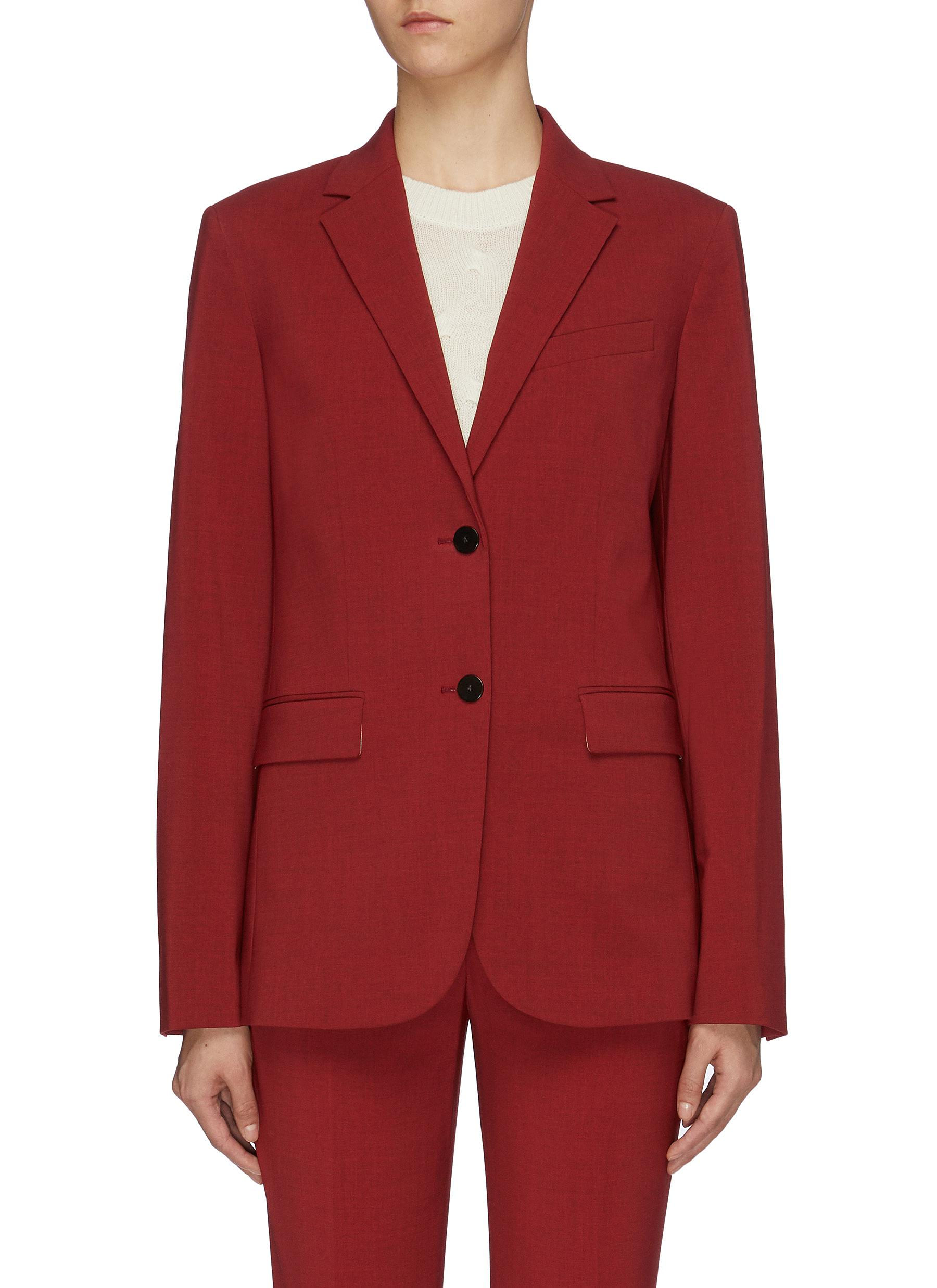 Notched lapel virgin wool blazer by Theory