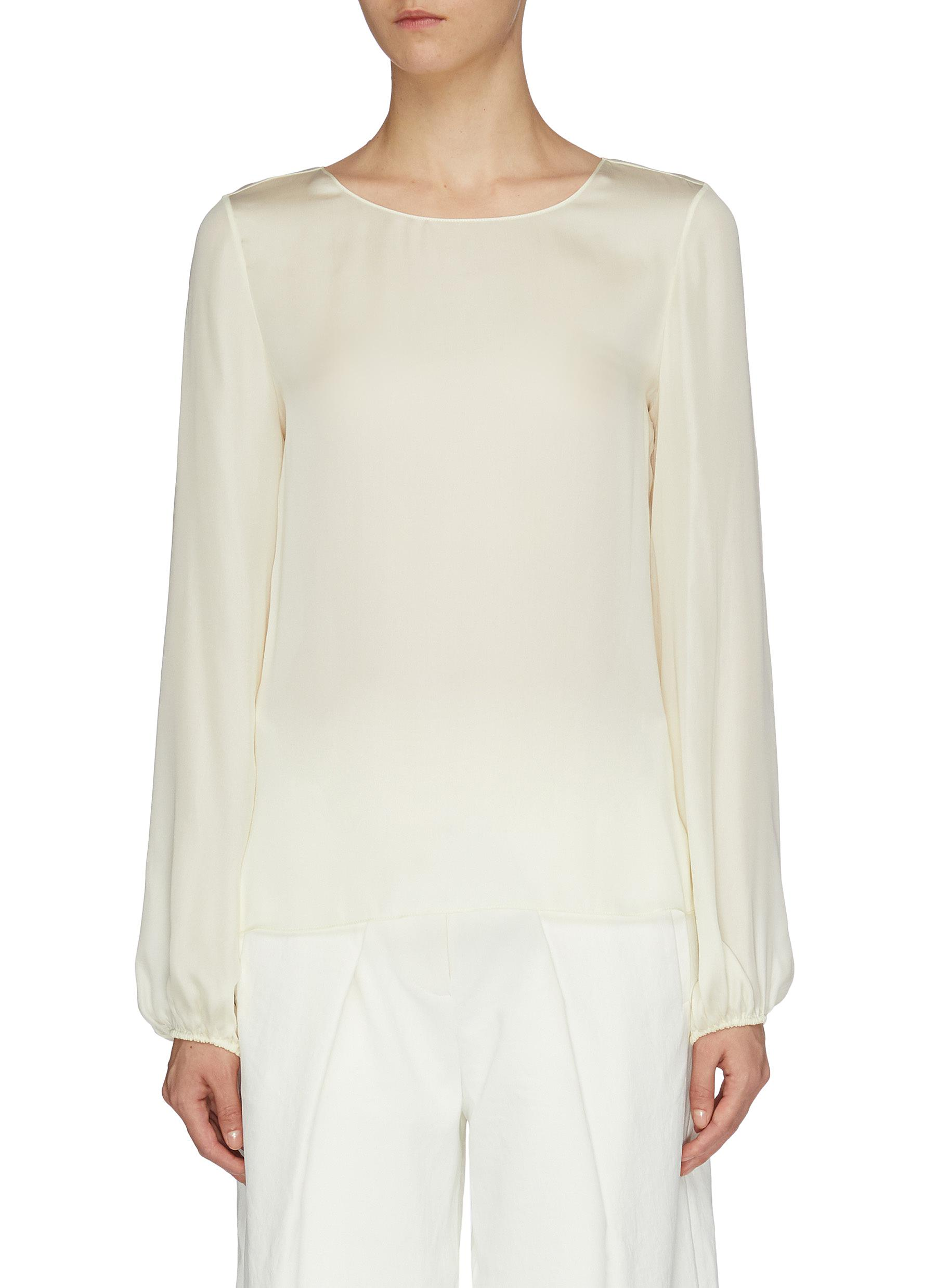 Blouson sleeve top by Theory