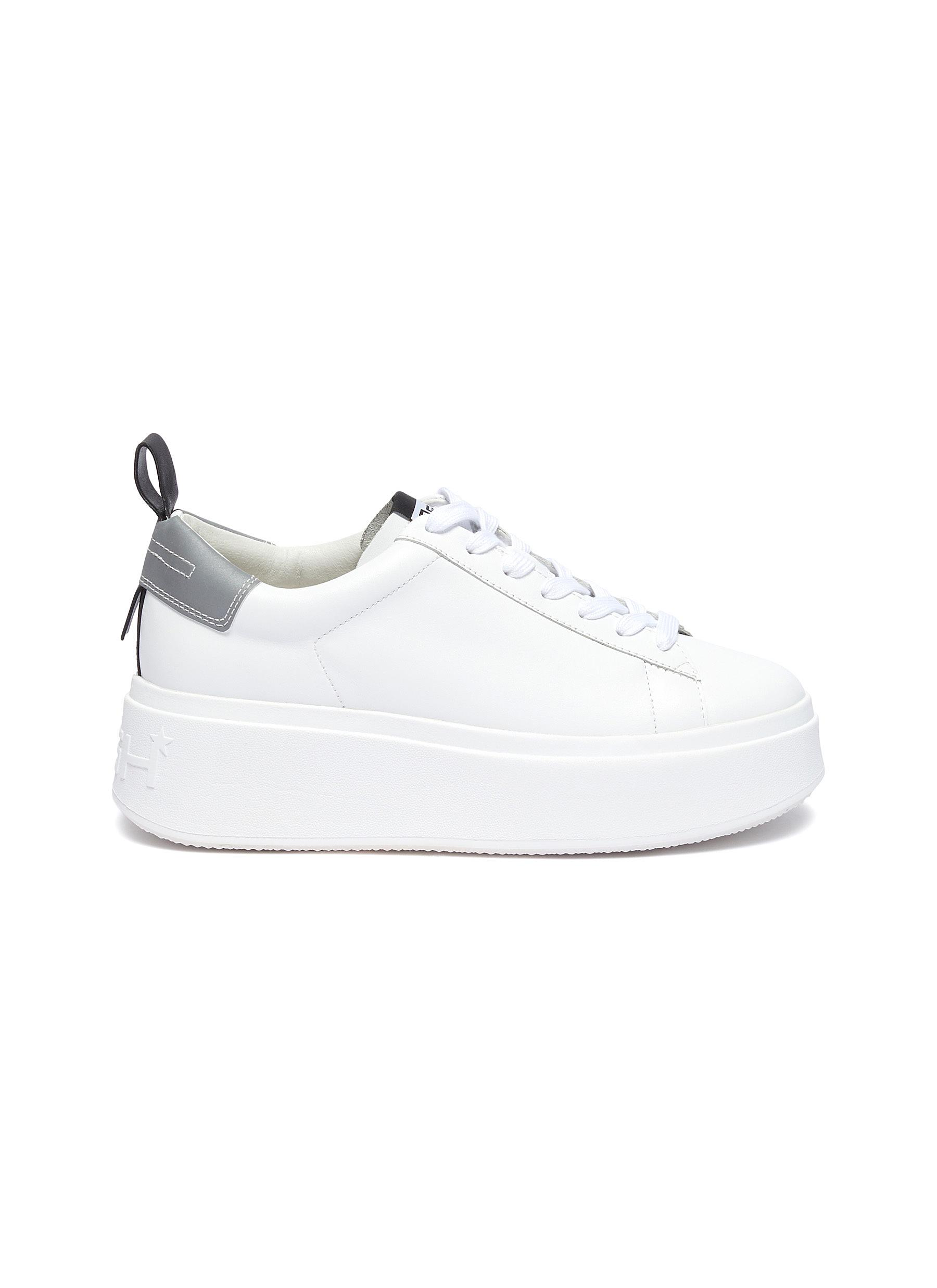 Moon platform leather sneakers by Ash