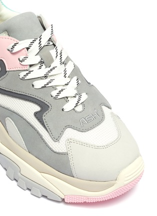 Detail View - Click To Enlarge - ASH - 'Addict' chunky outsole leather panel mesh sneakers