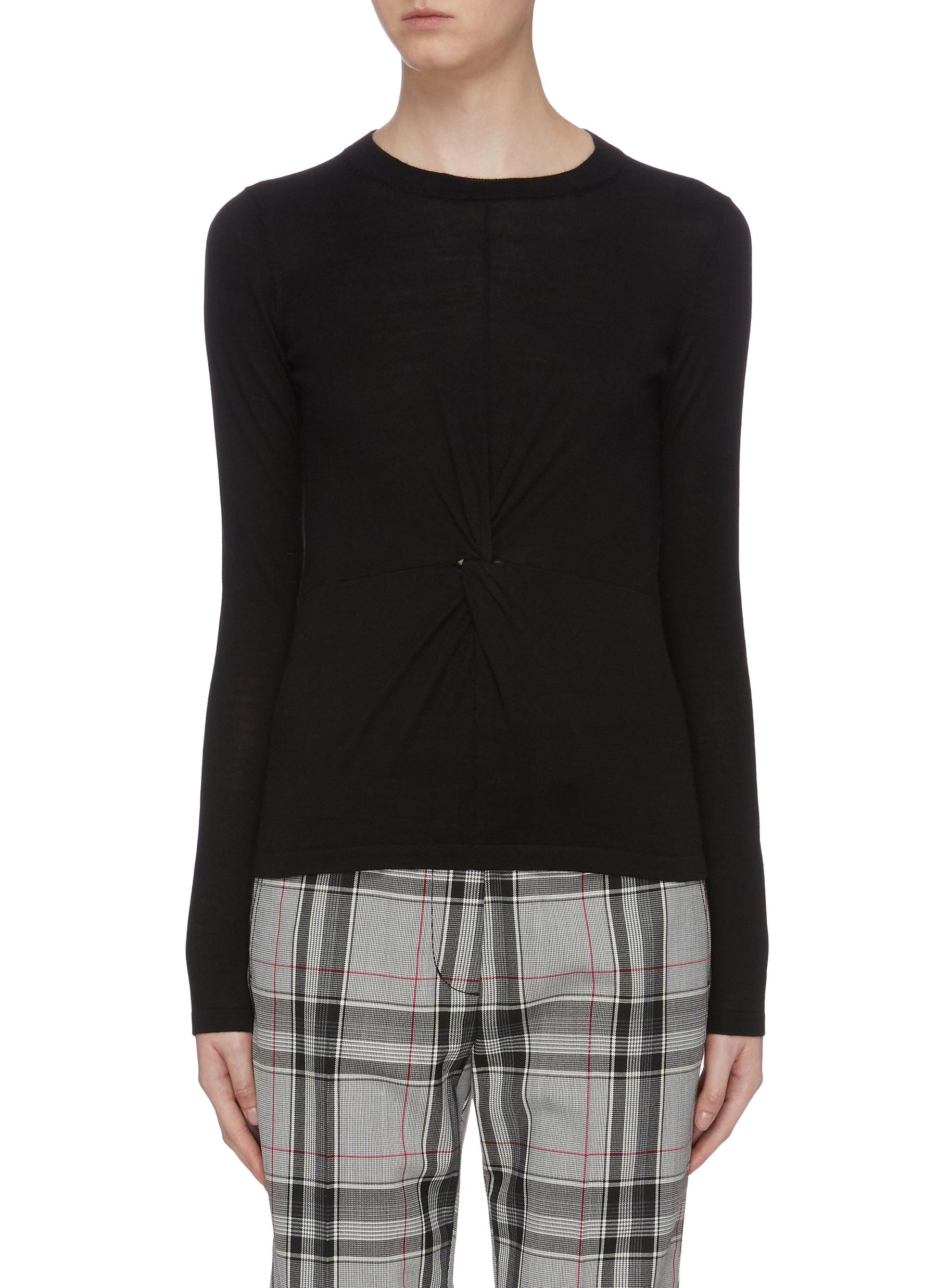 Twist front knit top by Vince