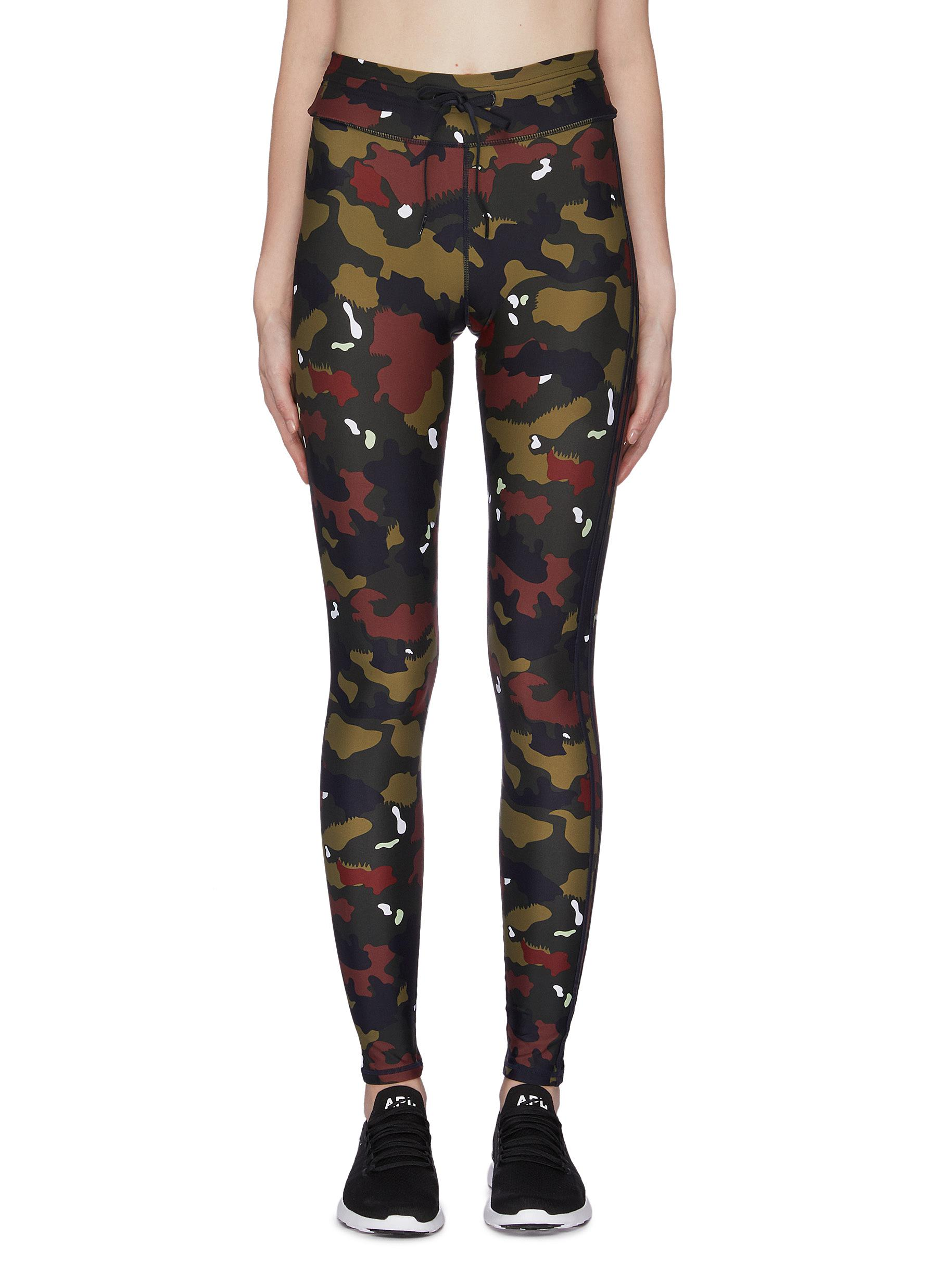 Jungle camoflage print yoga leggings by The Upside