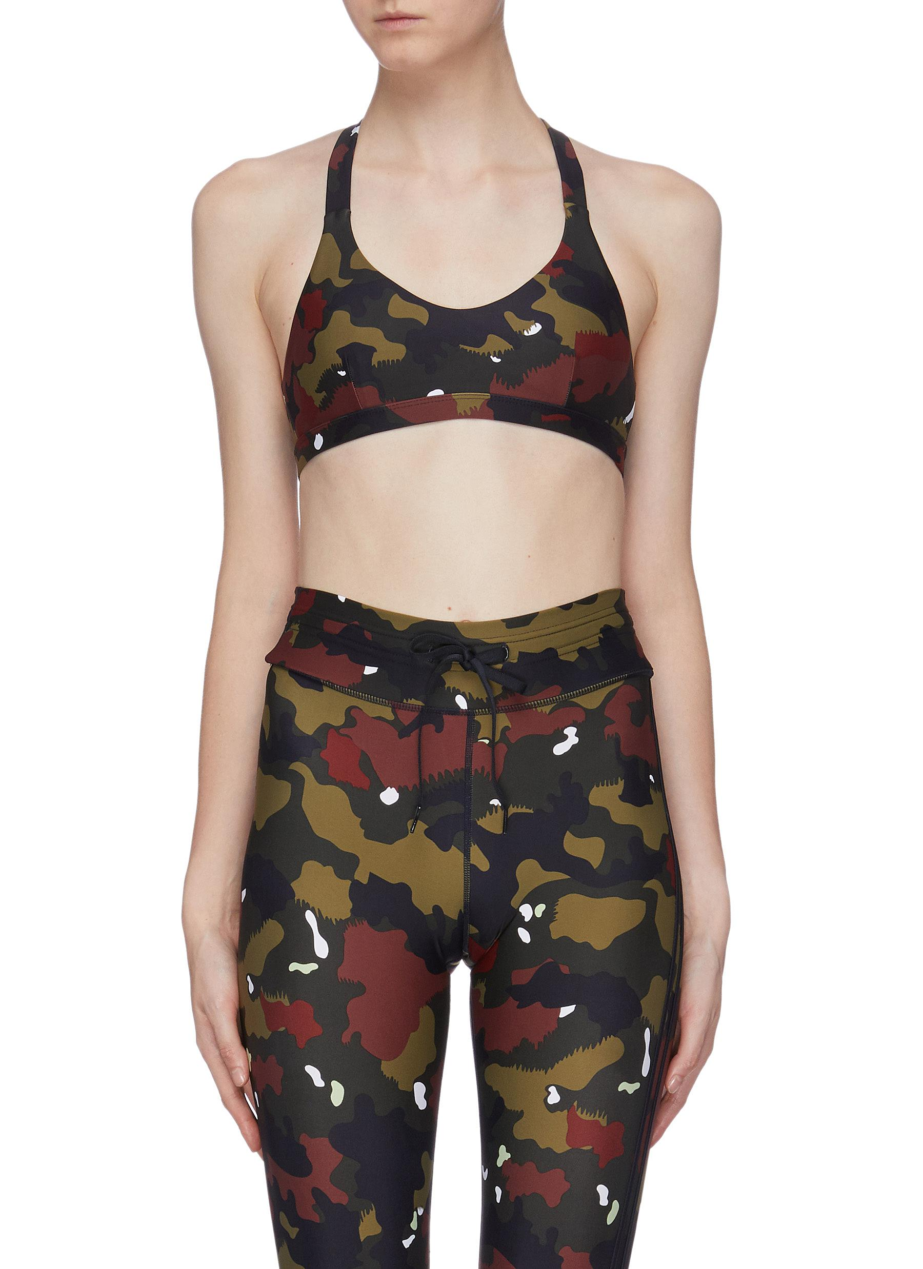 Jungle Sophie camoflage print sports bra by The Upside
