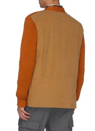 Back View - Click To Enlarge - MAISON FLANEUR - Colourblock patchwork cardigan