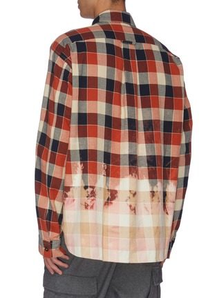 Back View - Click To Enlarge - MAISON FLANEUR - Bleached check plaid shirt