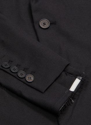 - MAISON FLANEUR - Raw edge cotton-virgin wool twill soft blazer