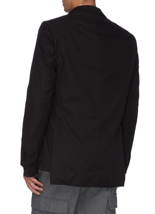 Back View - Click To Enlarge - MAISON FLANEUR - Raw edge cotton-virgin wool twill soft blazer