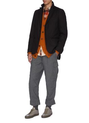 Figure View - Click To Enlarge - MAISON FLANEUR - Raw edge cotton-virgin wool twill soft blazer