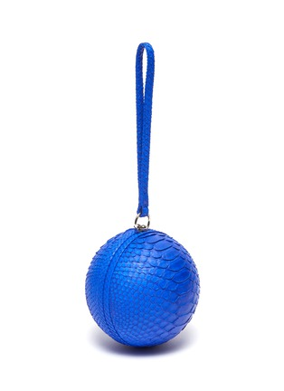 Detail View - Click To Enlarge - GELAREH MIZRAHI - Python leather sphere clutch