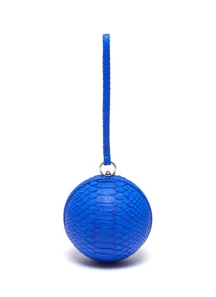 Main View - Click To Enlarge - GELAREH MIZRAHI - Python leather sphere clutch