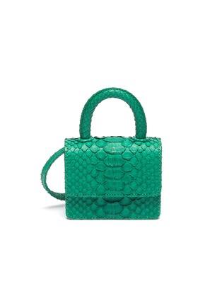 Main View - Click To Enlarge - GELAREH MIZRAHI - Python leather micro mini bag