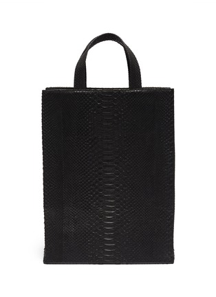 Main View - Click To Enlarge - GELAREH MIZRAHI - Python leather tote