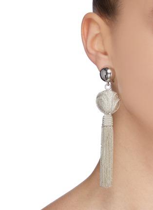 Figure View - Click To Enlarge - OSCAR DE LA RENTA - 'Runway' chain tassel earrings