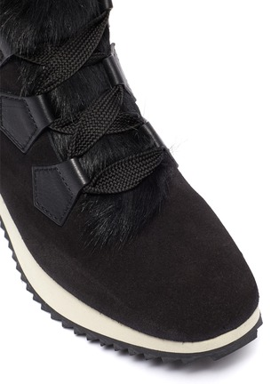 Detail View - Click To Enlarge - PEDRO GARCÍA - 'Olaf' faux fur suede sneaker boots