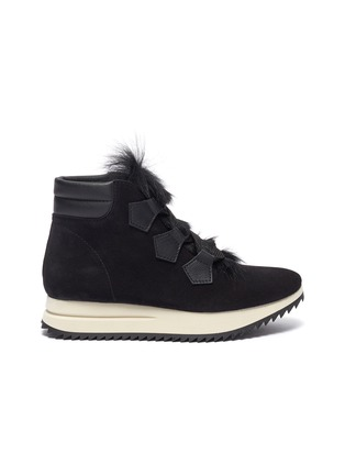 Main View - Click To Enlarge - PEDRO GARCÍA - 'Olaf' faux fur suede sneaker boots