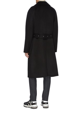 Back View - Click To Enlarge - SOLID HOMME - Belted wool-cashmere melton coat