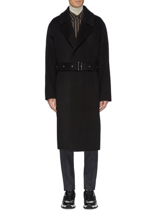 Main View - Click To Enlarge - SOLID HOMME - Belted wool-cashmere melton coat