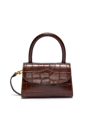 30d31fef BY FAR   Croc embossed mini leather top handle tote   Women   Lane ...
