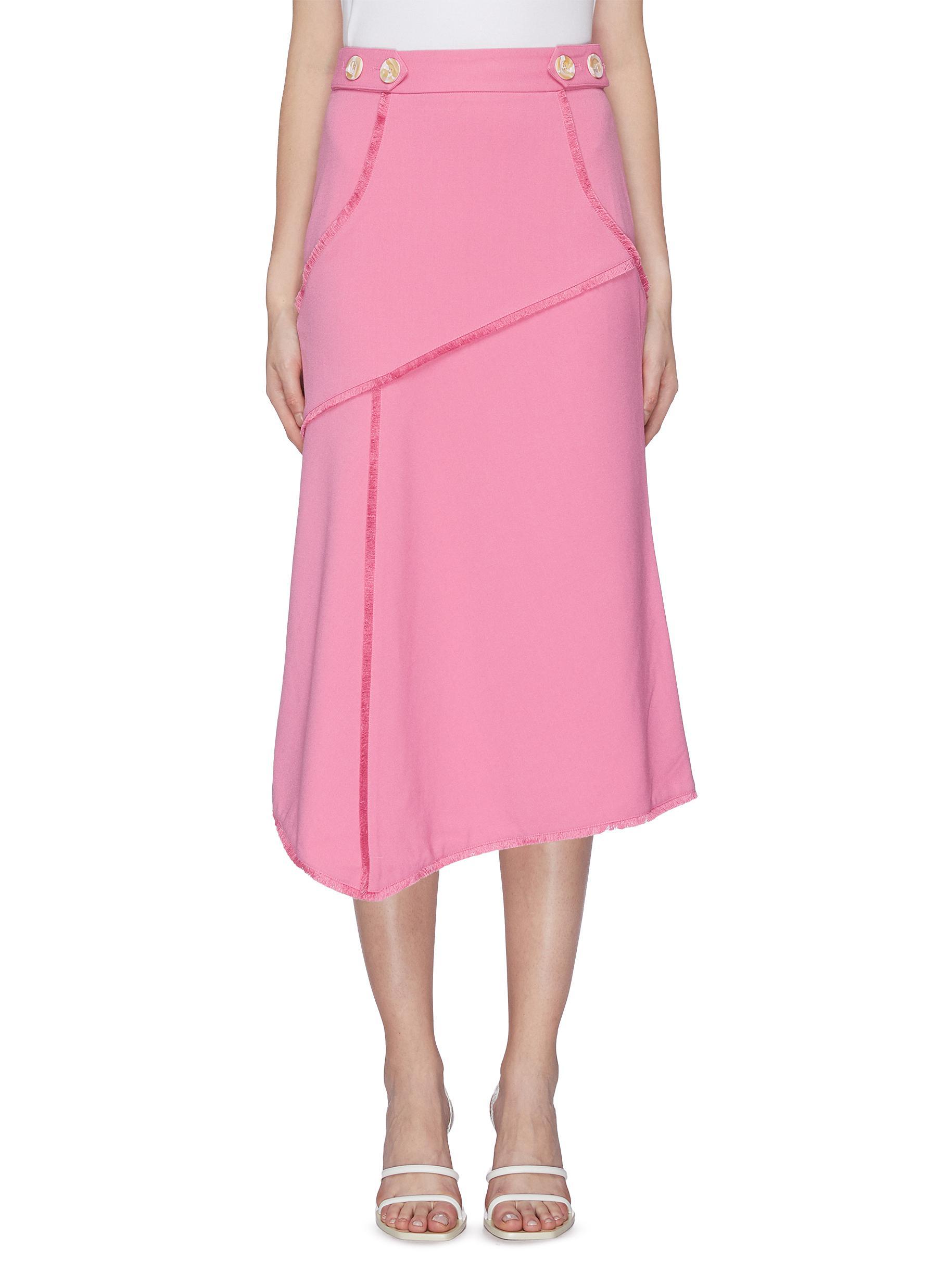 Sienna fringe panelled skirt by Rebecca Vallance