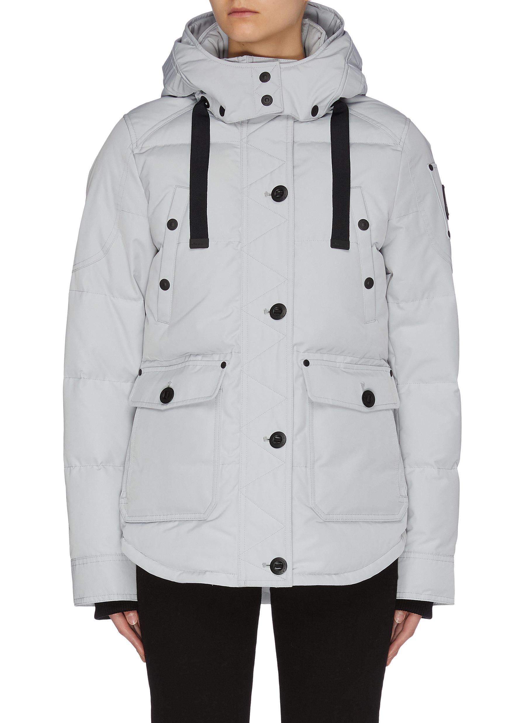 Buy Moose Knuckles Jackets 'Godbout' detachable hood down jacket
