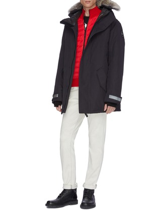 Figure View - Click To Enlarge - CANADA GOOSE - 'Edgewood' coyote fur hooded down parka